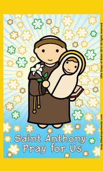 Saint Anthony Flash Card