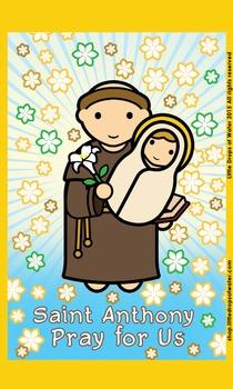 Saint Anthony Flashcard