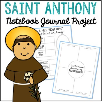 Saint Anthony Notebook Journal Project, Christian Resources