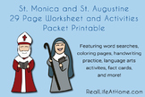 Saint Augustine and Saint Monica Activities Printable Packet