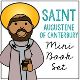 Saint Augustine of Canterbury Biography Mini Book in 3 Formats, Catholic School