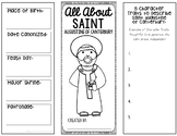 Saint Augustine of Canterbury Research Project w/ Interactive Notebook Pockets