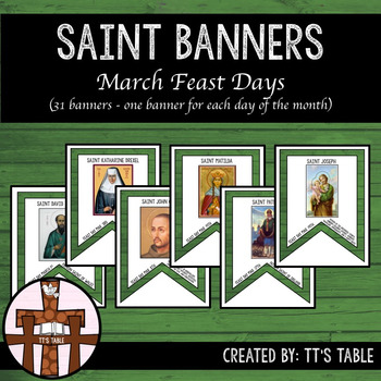 Saint Banners March Feast Days