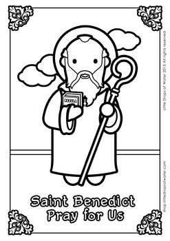 Saint Benedict Coloring - Catholic