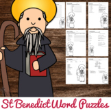 Saint Benedict Word Puzzles - No Prep Catholic Activities