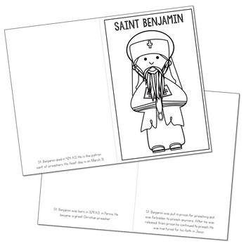 Saint Benjamin Biography Mini Book in 3 Formats, Catholic Resource