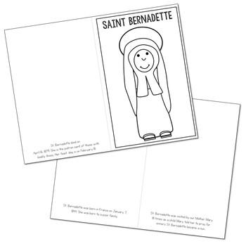 Saint Bernadette Biography Mini Book in 3 Formats, Catholic Resource
