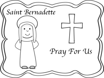 Saint Bernadette Mini Book and Coloring Page
