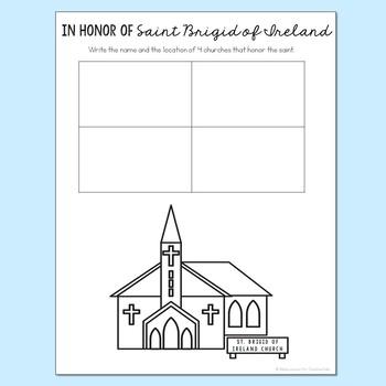 Saint Brigid of Ireland Notebook Journal Project, Catholic Resources