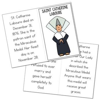 Saint Catherine Laboure l Mini Book in 3 Formats, Catholic Resource
