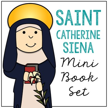 Saint Catherine of Siena Biography Mini Book in 3 Formats, Catholic Resource