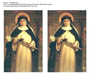 Saint Catherine of Siena Comic Strip and Storyboard