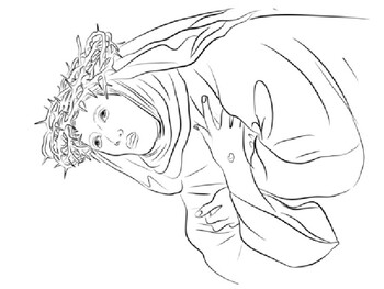 Saint Catherine of Siena coloring picture