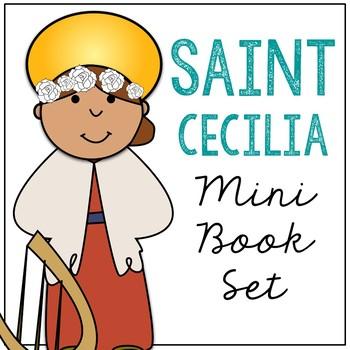 Saint Cecilia Biography Mini Book in 3 Formats, Catholic Resource