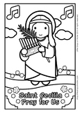 Saint Cecilia Coloring - Catholic