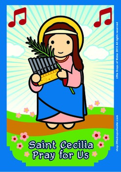 Saint Cecilia Poster - Catholic
