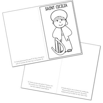 Saint Cecilia l Mini Book in 3 Formats, Catholic Resource