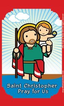 Saint Christopher Flash Card