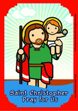 Saint Christopher Poster - Catholic