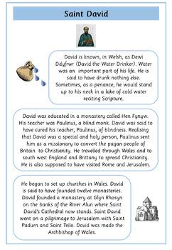 Saint David's Day Comprehensions - Set of 6