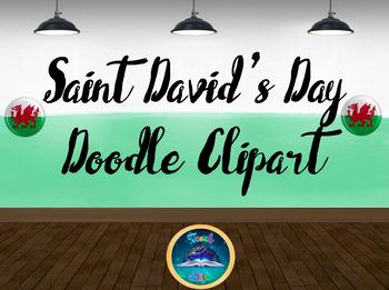 Saint David's Day / Wales Doodle - Clipart