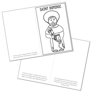 Saint Dominic l Mini Book in 3 Formats, Catholic Resource