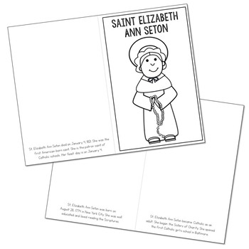 Saint Elizabeth Ann Seton Biography Mini Book in 3 Formats, Catholic Resource
