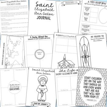 Saint Elizabeth Ann Seton Notebook Journal Project, Catholic Schools