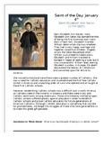 Saint Elizabeth Ann Seton Saint of the Day Worksheet