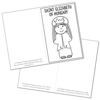 Saint Elizabeth of Hungary Biography Mini Book in 3 Formats, Catholic Resource