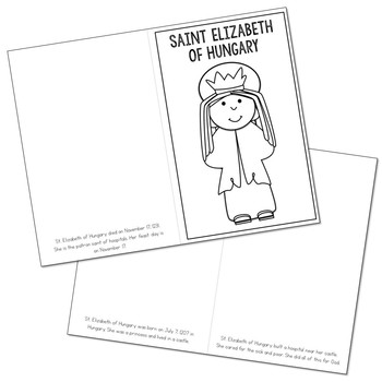 Saint Elizabeth of Hungary Biography Mini Book in 3 Formats, Catholic Resource