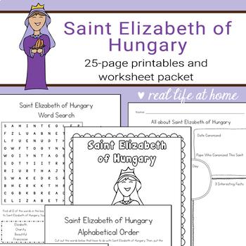 Saint Elizabeth of Hungary Printables Activity Packet