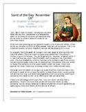 Saint Elizabeth of Hungary Saint of the Day Worksheet