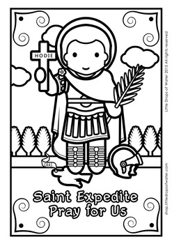 Saint Expedite Coloring - Catholic