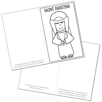 Saint Faustina Biography Mini Book in 3 Formats, Catholic Resource