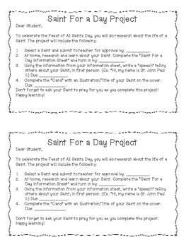 Saint For a Day Project