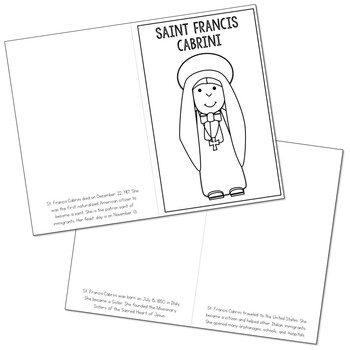 Saint Francis Cabrini l Mini Book in 3 Formats, Catholic Resource