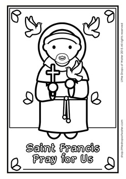 Saint Francis Coloring - Catholic