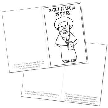 Saint Francis De Sales l Mini Book in 3 Formats, Catholic Resource