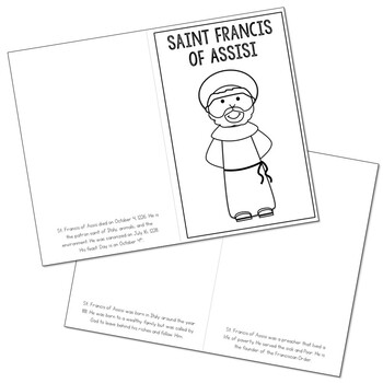 Saint Francis Of Assisi l Mini Book in 3 Formats, Catholic Resource