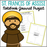 Saint Francis of Assisi Notebook Journal Project, Catholic