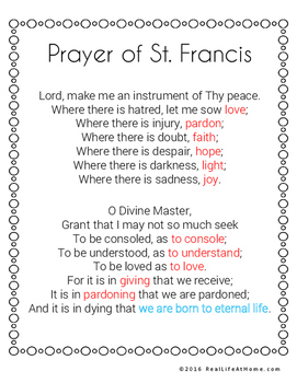 graphic regarding St Francis Prayer Printable titled Saint Francis of Assisi Printables Recreation Packet