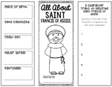 Saint Francis of Assisi Research Brochure Project w/ Inter