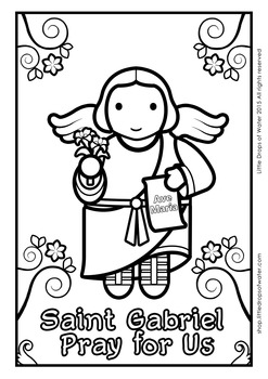 Saint Gabriel Coloring - Catholic