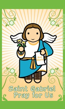 Saint Gabriel Flash Card