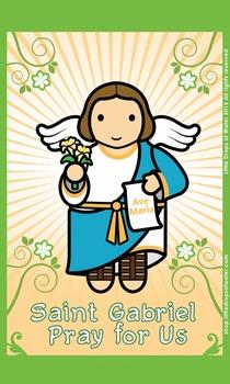 Saint Gabriel Flash Card