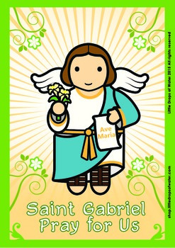 Saint Gabriel Poster - Catholic