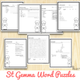 Saint Gemma Galgani Word Puzzles : No Prep Catholic Activities