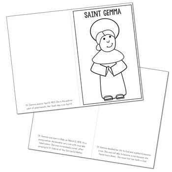 Saint Gemma l Mini Book in 3 Formats, Catholic Resource