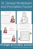 Saint George Activities Printable Packet